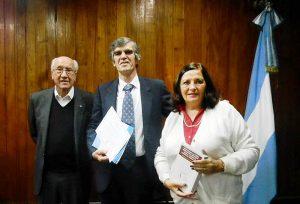 Dr. Antonio Torrejón, el Licenciado Víctor Torres y Alicia Gemelli