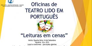 Teatro leído en portugués: inscripciones abiertas