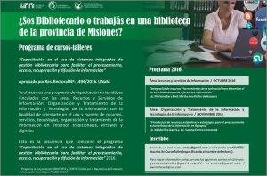Capacitaciones para bibliotecarios y agentes de bibliotecas de Misiones