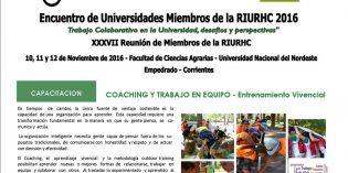 Encuentro de universidades miembros de la Red Interuniversitaria de Recursos Humanos y Capacitación continua – RIURHC