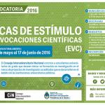 Resultados de la convocatoria 2016 a las Becas Estímulo a las Vocaciones Científicas