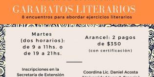 """Taller de escritura """"garabatos literarios"""" con Daniel Acosta"""