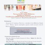 """Curso-Taller: """"Contribuciones bibliotecológicas para la gestión documental"""""""