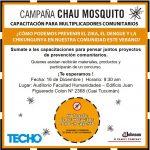 """""""Chau mosquito"""": Capacitación sobre dengue, zika, y chikunguya en la FHyCS-UNaM"""