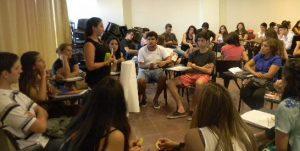 Actividades de ingreso de la Carrera de Educación Especial por la semana de la memoria