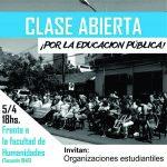 Clase abierta en defensa de la educación pública