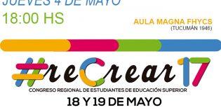 Se hará una reunión informativa del Congreso Regional de Estudiantes de Educación Superior