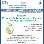 Nuevo seminario y módulo de Gestión del Desarrollo Sustentable en la FHyCS