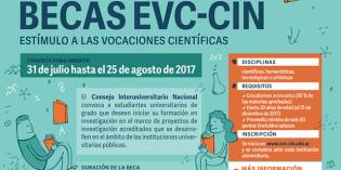 Prorrogan hasta el lunes 28 de agosto la presentación a becas EVC- CIN
