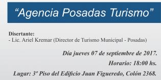 "Ñeé de Turismo: Charla sobre la ""Agencia Posadas Turismo"""