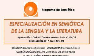 El Programa de Semiótica de la UNaM abre una nueva propuesta de Posgrado