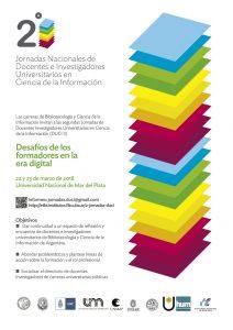 2das Jornadas de Docentes Investigadores Universitarios en Ciencia de la Información (DUCI 2)