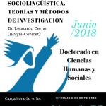 Seminario de sociolingüística dará inició al ciclo de cursos del Doctorado en Ciencias Humanas y Sociales