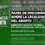 Realizarán panel de discusión sobre la legalización del aborto en la FHyCS