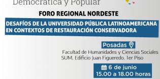 """Realizarán el Foro """"Desafíos de la universidad pública latinoamericana en contextos de restauración conservadora"""""""