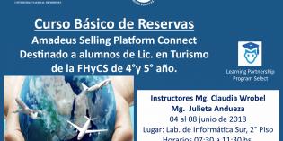 Brindarán Curso de AMADEUS en la FHyCS