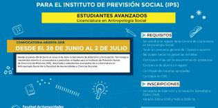 Llamado a pasantías rentadas para estudiantes de Antropología Social