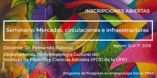 Abren la inscripciones del seminario Mercados, circulaciones e infraestructuras