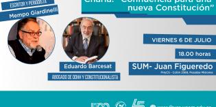 Eduardo Barcesat y Mempo Giardinelli brindarán charla debate en la FHyCS