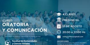 Inscripciones abiertas: Curso de Oratoria y Comunicación
