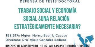 Se realizará la defensa de una tesis doctoral sobre Economía Social