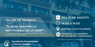 Invitan a participar de los Talleres de Trabajo del Plan de Desarrollo Institucional 2018-2026 de la UNaM