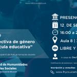 """Seminario: """"La perspectiva de género en la currícula educativa"""""""