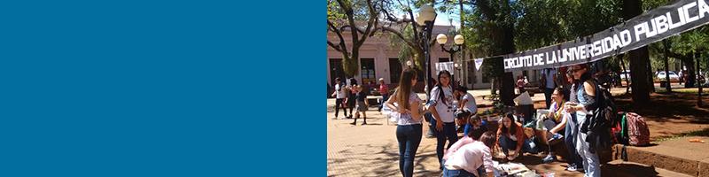 Postales: resistencia de la FHyCS en Defensa de la Educación Pública