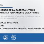 Se lanza una nueva oferta académica permanente de la FHyCS y será única en el país