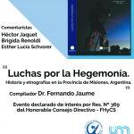 El libro Luchas por la Hegemonía será presentado en la FHyCS-UNaM