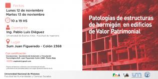 """Curso de actualización: """"Patologías de estructura de hormigón en edificios de Valor Patrimonial"""""""