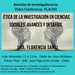 Invitan a la videoconferencia: Ética de la investigación en Ciencias Sociales. Avances y desafíos
