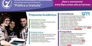 Amplia propuesta educativa en la Facultad de Humanidades y Ciencias Sociales