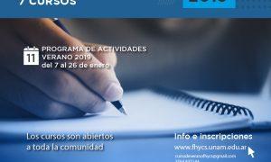 Cursos de verano 2019 en la FHyCS