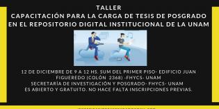 """Convocan al Taller """"Capacitación para la carga de tesis de posgrado en el repositorio digital institucional de la UNaM"""""""
