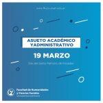 El 16 de marzo habrá asueto académico y administrativo por el día del Santo Patrono de Posadas