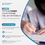 Curso Dificultades Específicas del Aprendizaje (DEA) desde un abordaje psicosocial