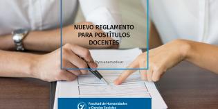 Nueva reglamentación para postítulos docentes en la UNaM