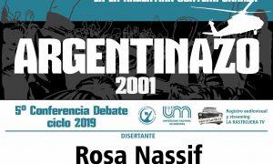 Charla sobre el Argentinazo del 2001 en la FHyCS