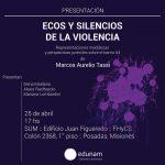 """Presentarán el libro """"Ecos y silencios de la violencia"""""""