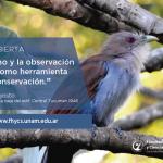 Charla sobre potencialidades del turismo y la observación de aves en la FHyCS