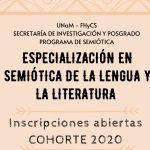 Inician las inscripciones de la Especialización en Semiótica