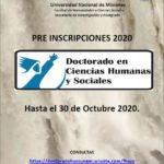 Abierta la pre-inscripción al Doctorado en Ciencias Humanas y Sociales