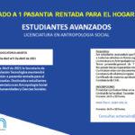 Llamado a Pasantía Rentada para estudiantes de la Lic. en Antropología Social